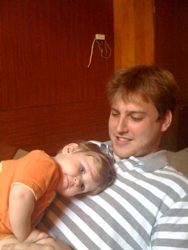 Alex and Zach, cuddling.