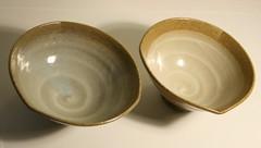 Mitsuo Shoji, pair of dipping bowls