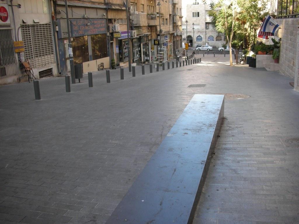 Jerusalem new pedestrian walkway