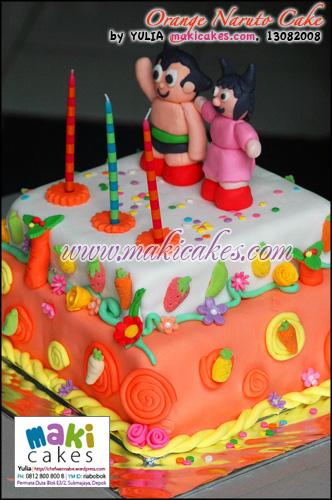 Orange Naruto Cake - Maki Cakes