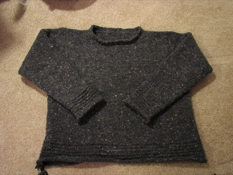 Grey Tweed Pullover