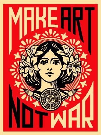 Make Art Not War Poster by DRheins