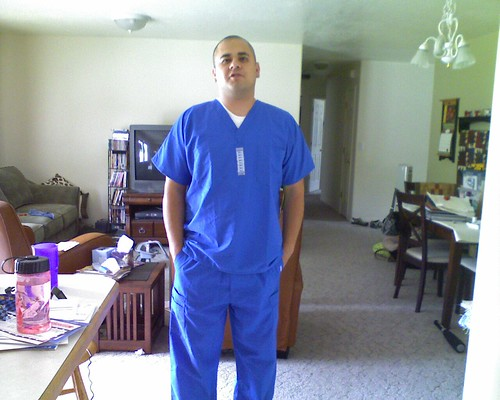 Joe in scrubs