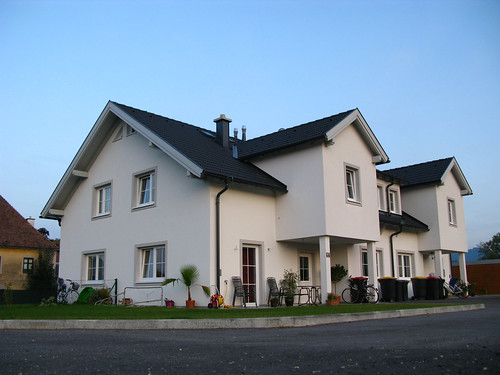 An example from Austria of multiple families living on the same property