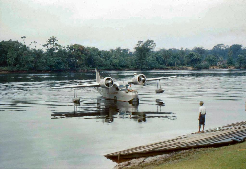 Grumman Goose at Watooka Club, MacKenzie, Guyana