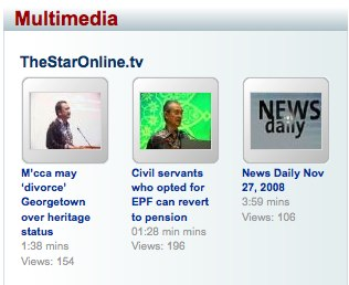 The Star Online - newspaper also hosting video