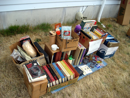 Forlorn yard sale stuff