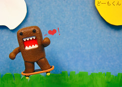 Domo-Kun Loves You - Skateboard