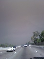 Driving to cerritos its like the fire is right here!