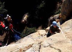 Juanjo climbin
