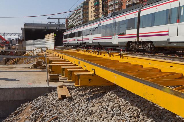 Cajón hincado en triangle ferroviari - Detalle de los refuerzos de las vías - 10-05-11