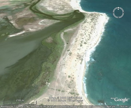 Potuvil Point from Google Earth Facing North