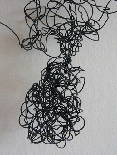 spiral wire figure - close up