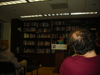 "Eileen Pollack reads from her short story, ""The Bris"" / photo taken by Rachel Mauro"