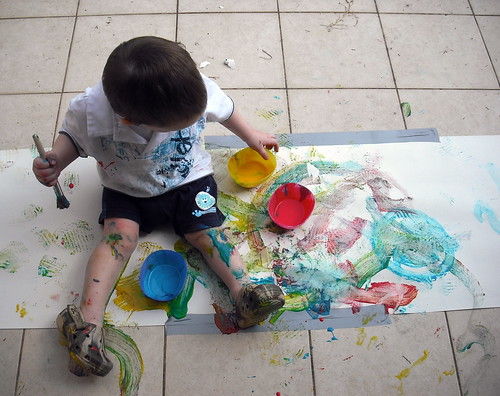 Declan's Painting Adventure
