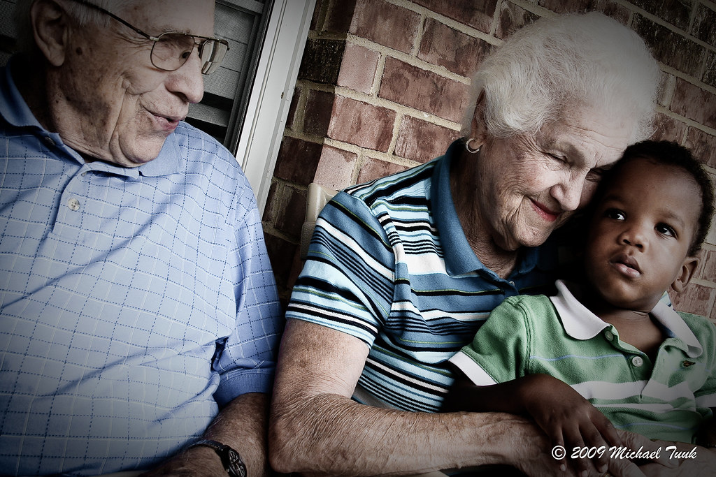 Ezekiel With His Great Grandparents