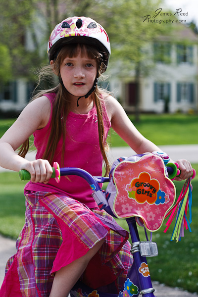 The big one ready for a bike ride.