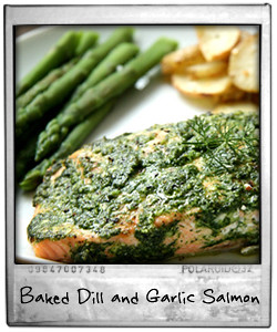 Baked Dill and Garlic Salmon