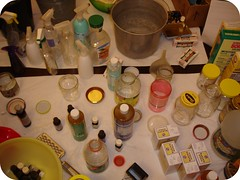 makin' green cleaning supplies!