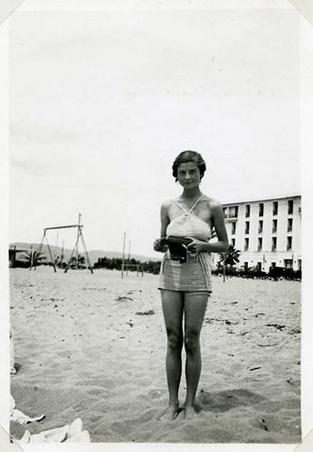 Photographe sur le sable