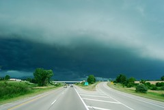 Image of a dark green sky over Wisconsin.