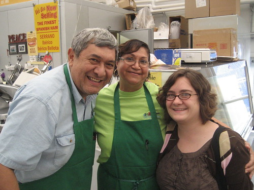 Canales' deli and Susanne