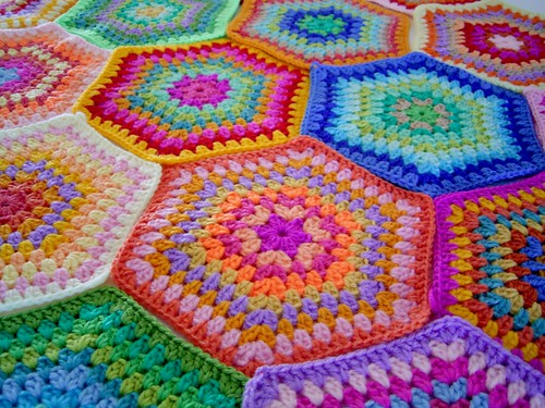 colourful hexagons