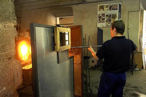 El calor es necesario de nuevo para soldar las partes. Foto Pedro Merino