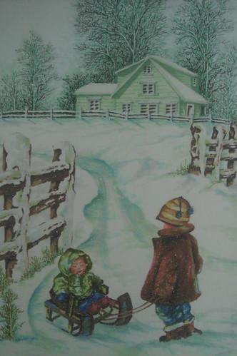 雪地裡玩耍的小�