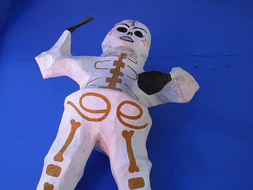 Kahlo skeleton at the Blue House