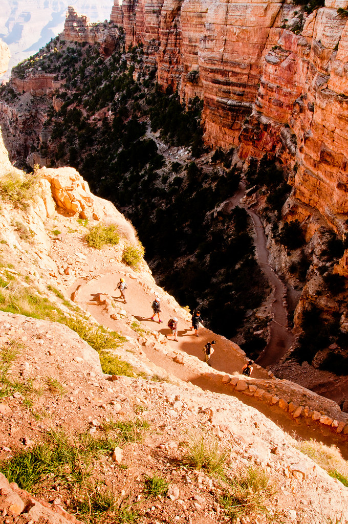 Looking down the Kaibab Trail