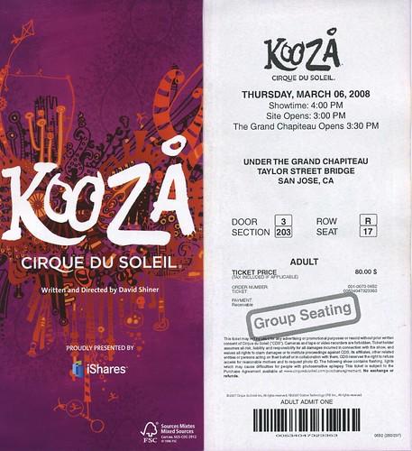 Kooza ticket