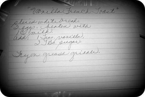 Vanilla (&Nutmeg) French Toast