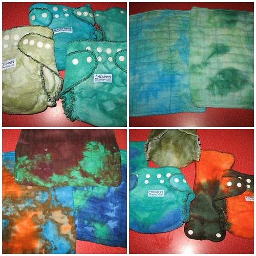 dyed diapers