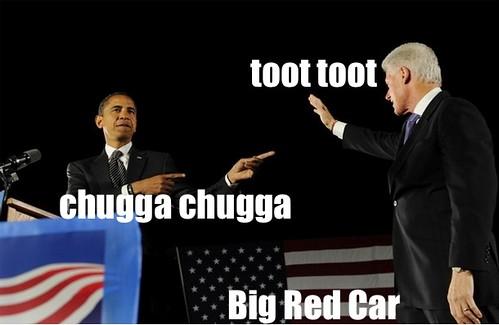 toot toot chugga chugga big red car