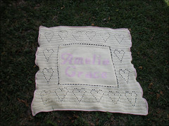 Baby blanket for Amelia Grace