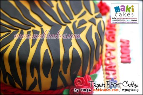 Tiger Print Bday Cake - Maki Cakes