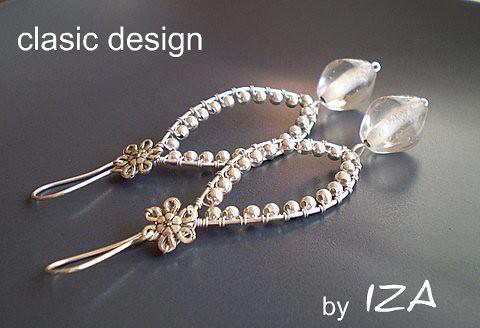 bijuterii-argint-margele-cercei-handmade by you.