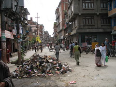 El basurero tipico, Katmandú, Nepal