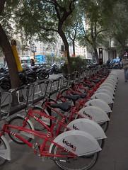 les vélib de Barcelone