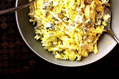cabbage, apple and walnut salad