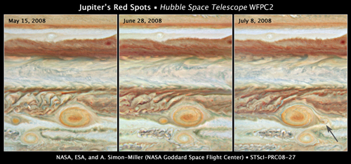 Time Series of Jupiter Red Spot. Click to enlarge.