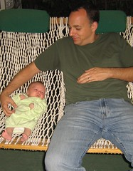 On the porch with Daddy