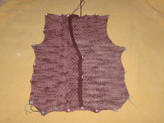 Sensational Cabled Cardigan - Right Front complete
