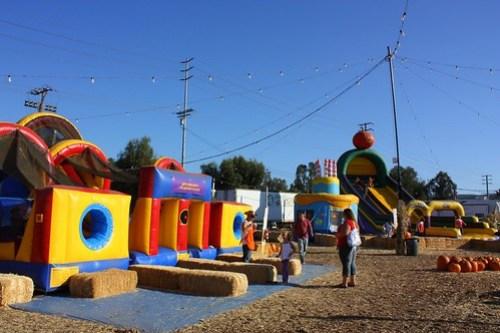 maze, bounce house, slide