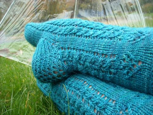 * Oooh, very pretty socks!