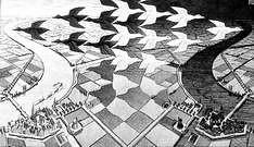 M. C. Escher. Dia y noche. 1938.