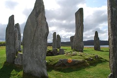 Center of the large circle of standing stones at Callanish