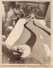 Writer and artist Lorin Neikirk in TCU Skiff, 1989 by Lorin Neikirk
