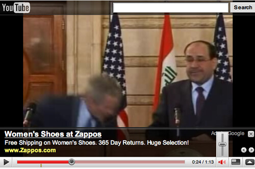 Bush al Zaidi Shoe throwing incident viral video youtube